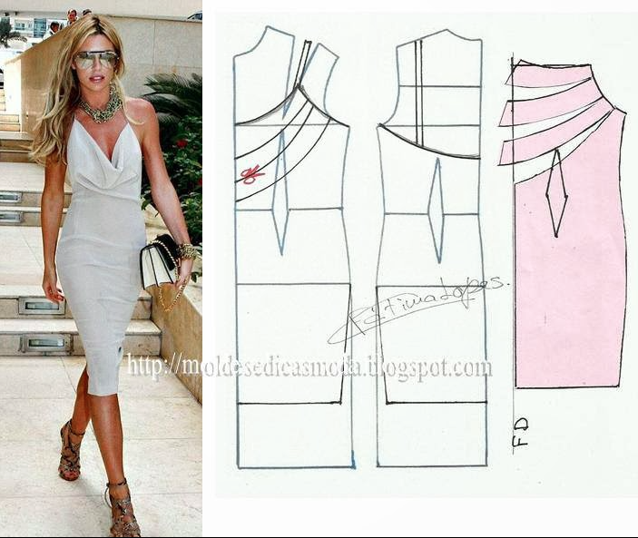 cowl neck strap dress | diferentes trazos | Pinterest | Sewing ...