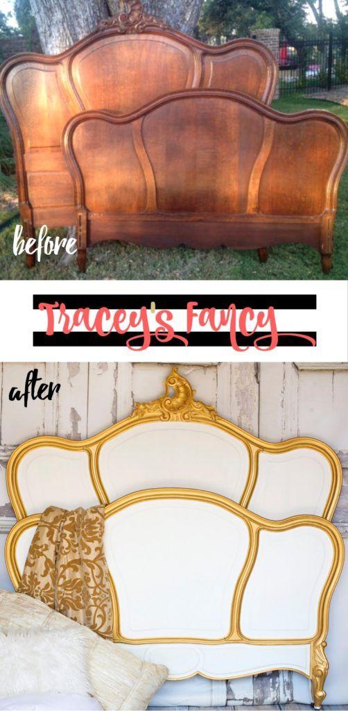 Classic White Vs Classic Black Painted Headboard Painted Headboard Furniture Makeover Refurbished Furniture