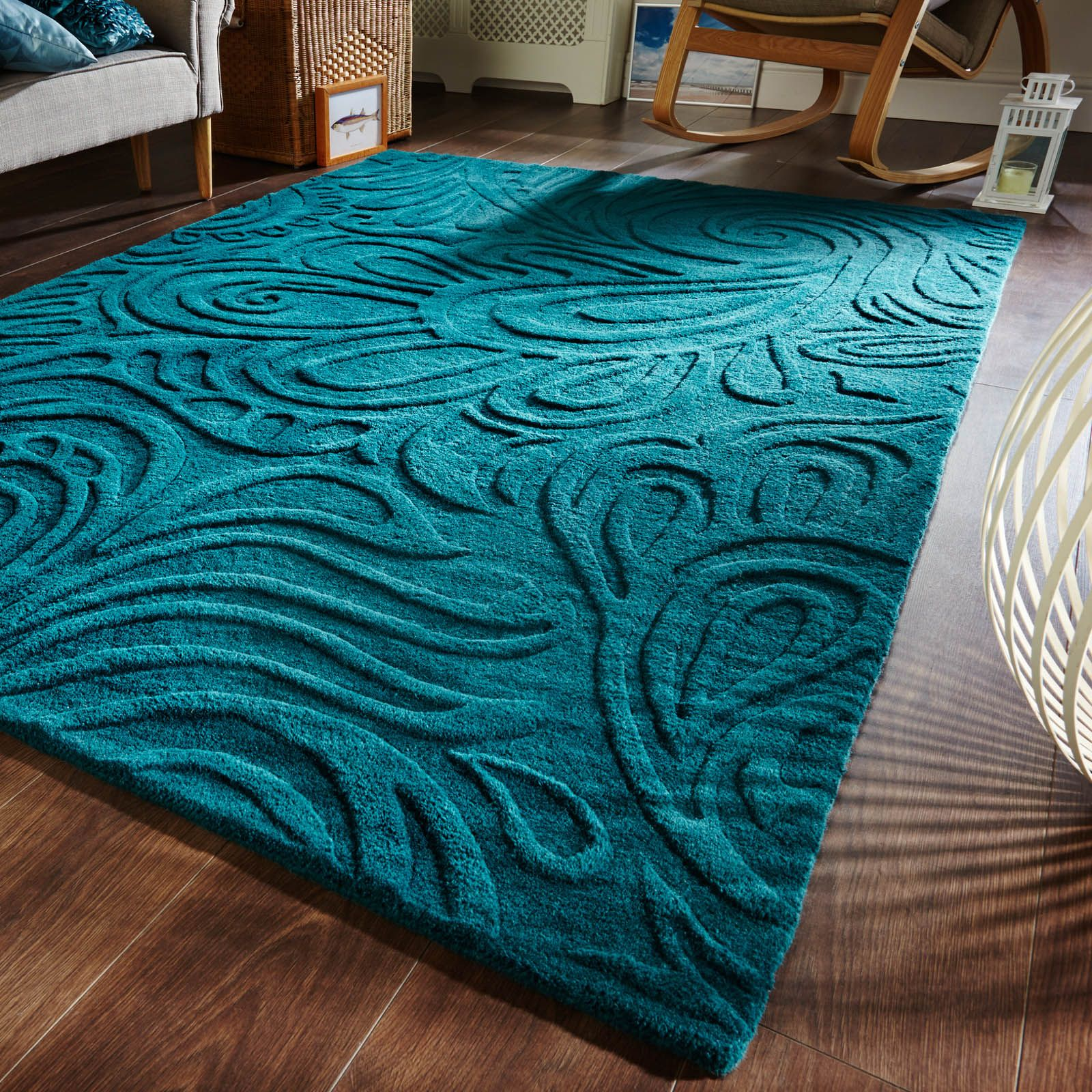 Wonderful Interior The Elegant Teal And White Area Rug: Teal Blue Bedroom Rugs