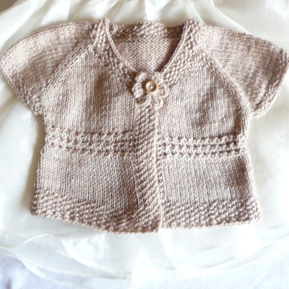 Knitting Top Down Patterns : Knitting pattern seamless top down baby girl cardigan by