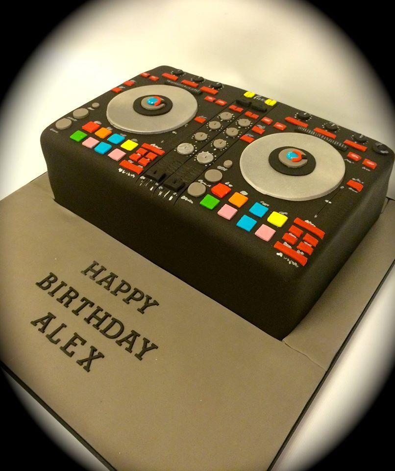 DJ Pioneer Decks birthday cake by wwwfacebookcomcakeinspirations
