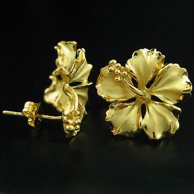 Sterling Silver Yellow Hibiscus Tropical Flower Stud Earrings Hawaiian Jewelry Jewelry Watches Fashion Jewelry Earrings Ebay Hawaii Ebay Watches