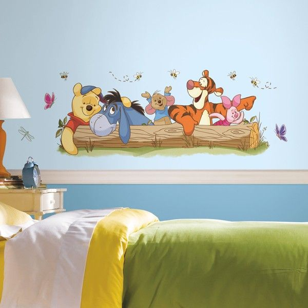 Amazing Room Mates Winnie The Pooh Outdoor Fun Giant Wall Decal