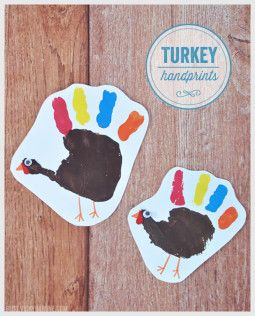 Turkey Handprints | Thanksgiving Craft for Kids | Vicky Barone