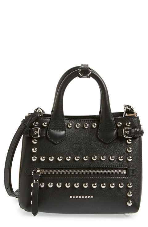 23d4f90fc826 Burberry  Baby Banner  Studded Leather Satchel. Find this Pin and more on  Designer Handbags ...