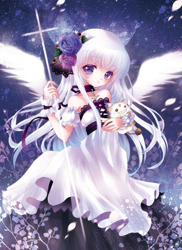 Anime Art Angel Angel Wings Cross Gothic