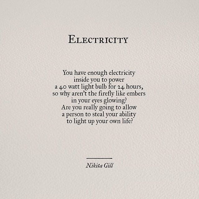 Inspirational Quotes About Positive: Electricity ༺ ༻ Nikita Never Allow Someone To Hold That
