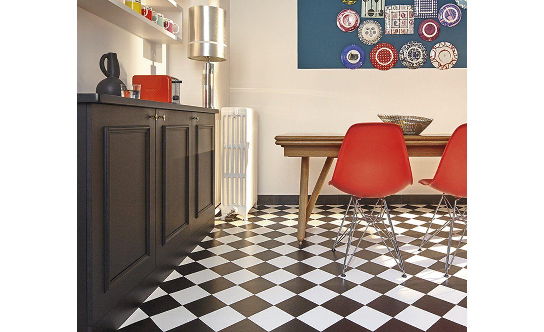 Sol Vinyle Bubblegum Carrelage Damier Noir Et Blanc Rouleau 4 M Sol Vinyle Vinyle Carreaux De Ciment Cuisine Moderne Blanche