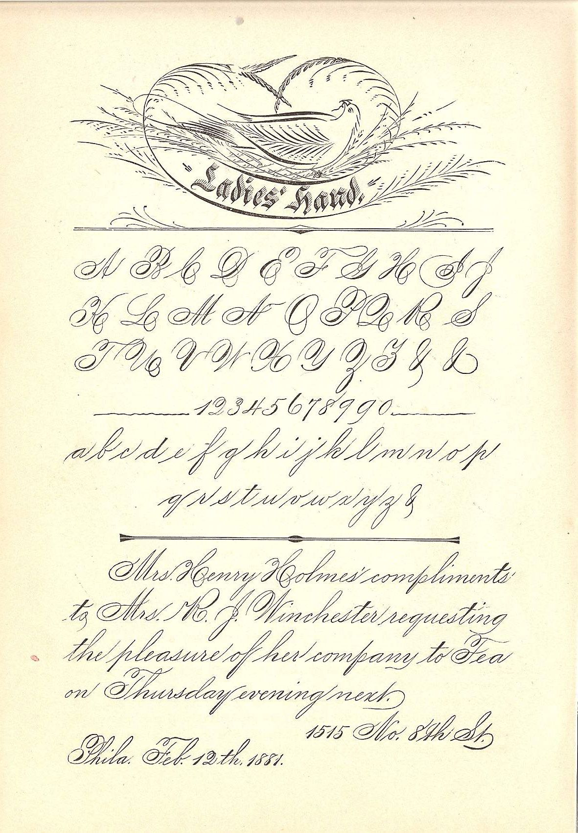 spencerian script | Handwriting | Pinterest | Scripts, Writing and D
