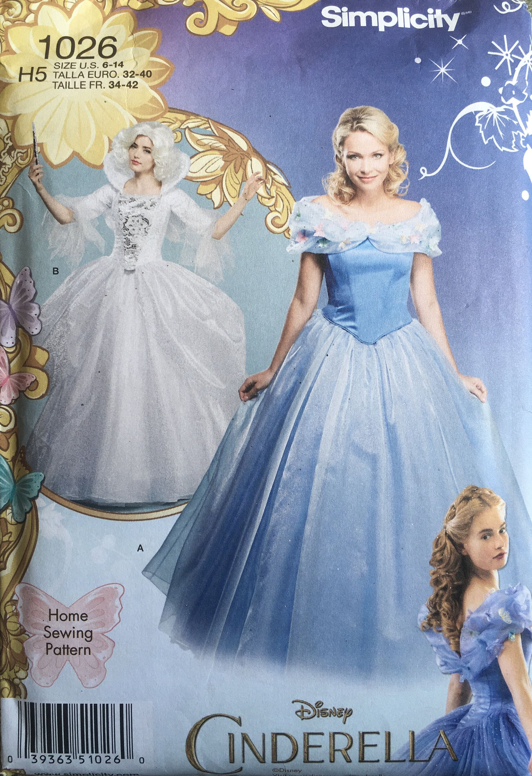 Simplicity 1026 Sewing Pattern Uncut Etsy In 2021 Fairy Godmother Costume Cinderella Fairy Godmother Costume Cinderella Dresses