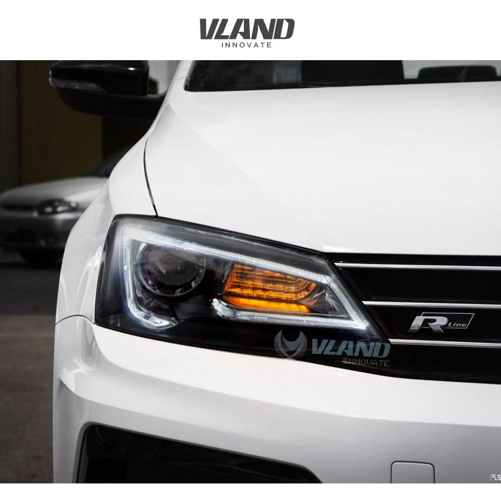 Vland Car Lamp For Volkswagen Jetta Sagitar 2012 Up Headlight