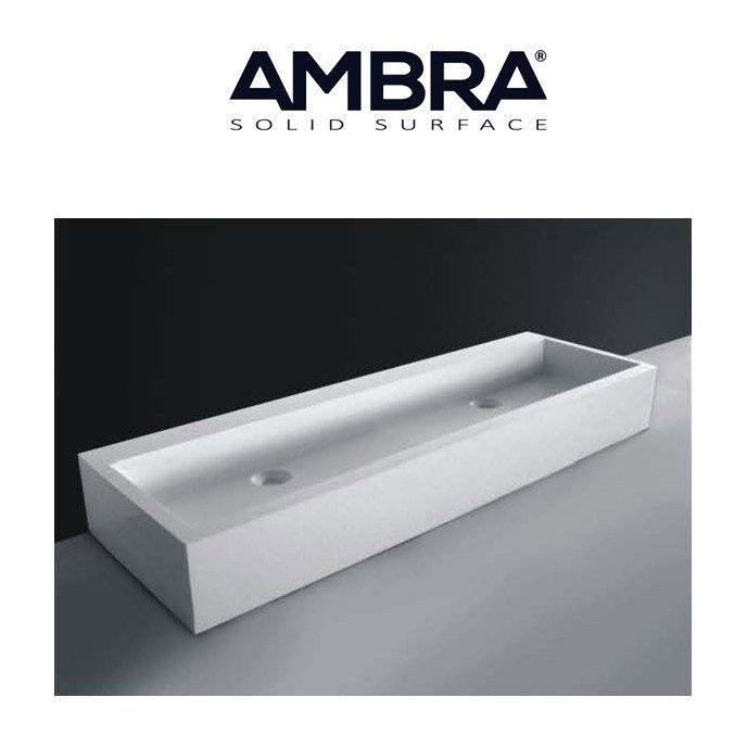 vasque a poser pas cher 2 EN STOCK : Vasque à poser ou à suspendre, 120 cm en Solid surface -