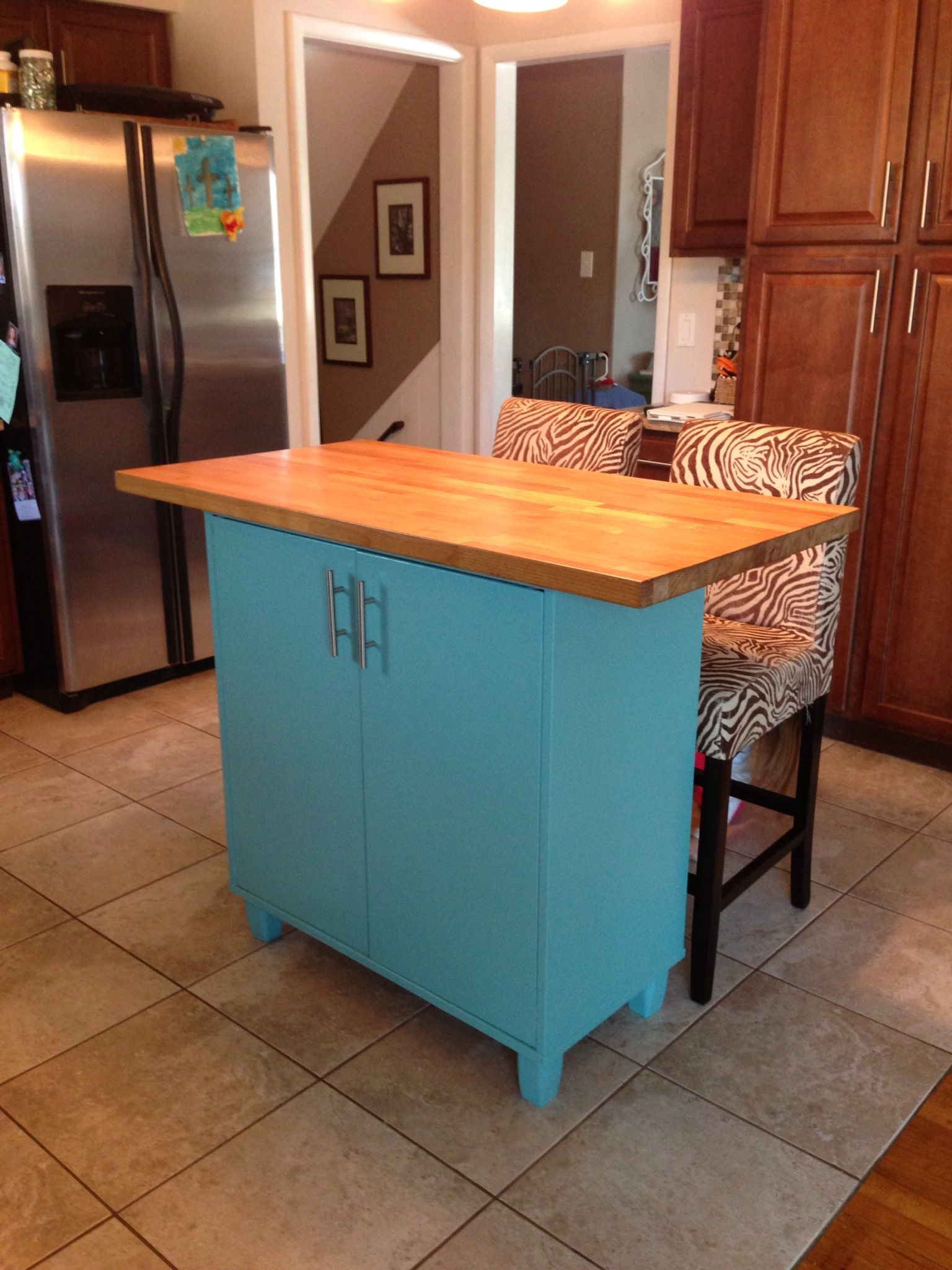 Island from an Ikea cabinet we no longer used in the ...