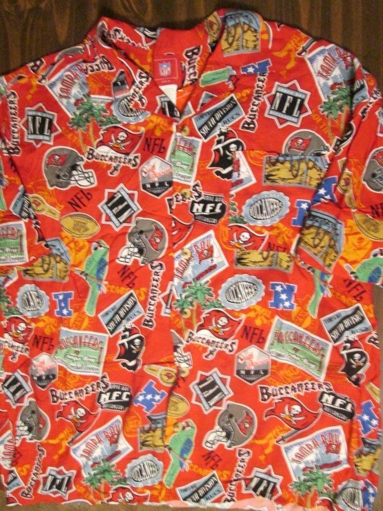 NFL Tampa Bay Buccaneers red Hawaiian Shirt Mens size XL  NFL  Hawaiian f45634b42