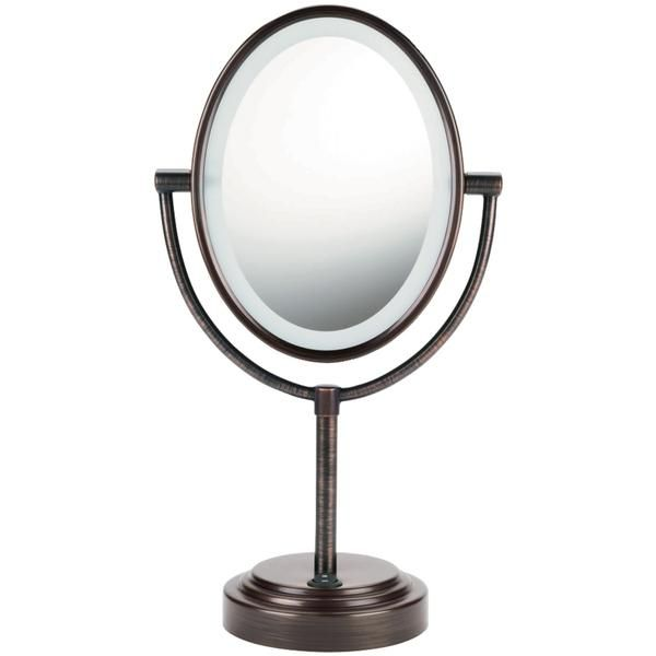 Conair Double Sided Lighted Mirror Oiled Bronze Makeup Mirror