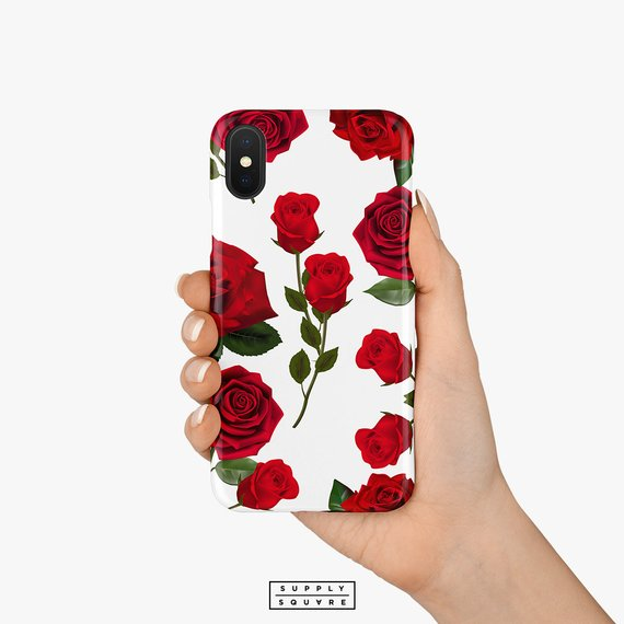 low priced 1969d 9b6a5 White And Red Roses iPhone Case iPhone X Case iPhone Shell | iPhone ...
