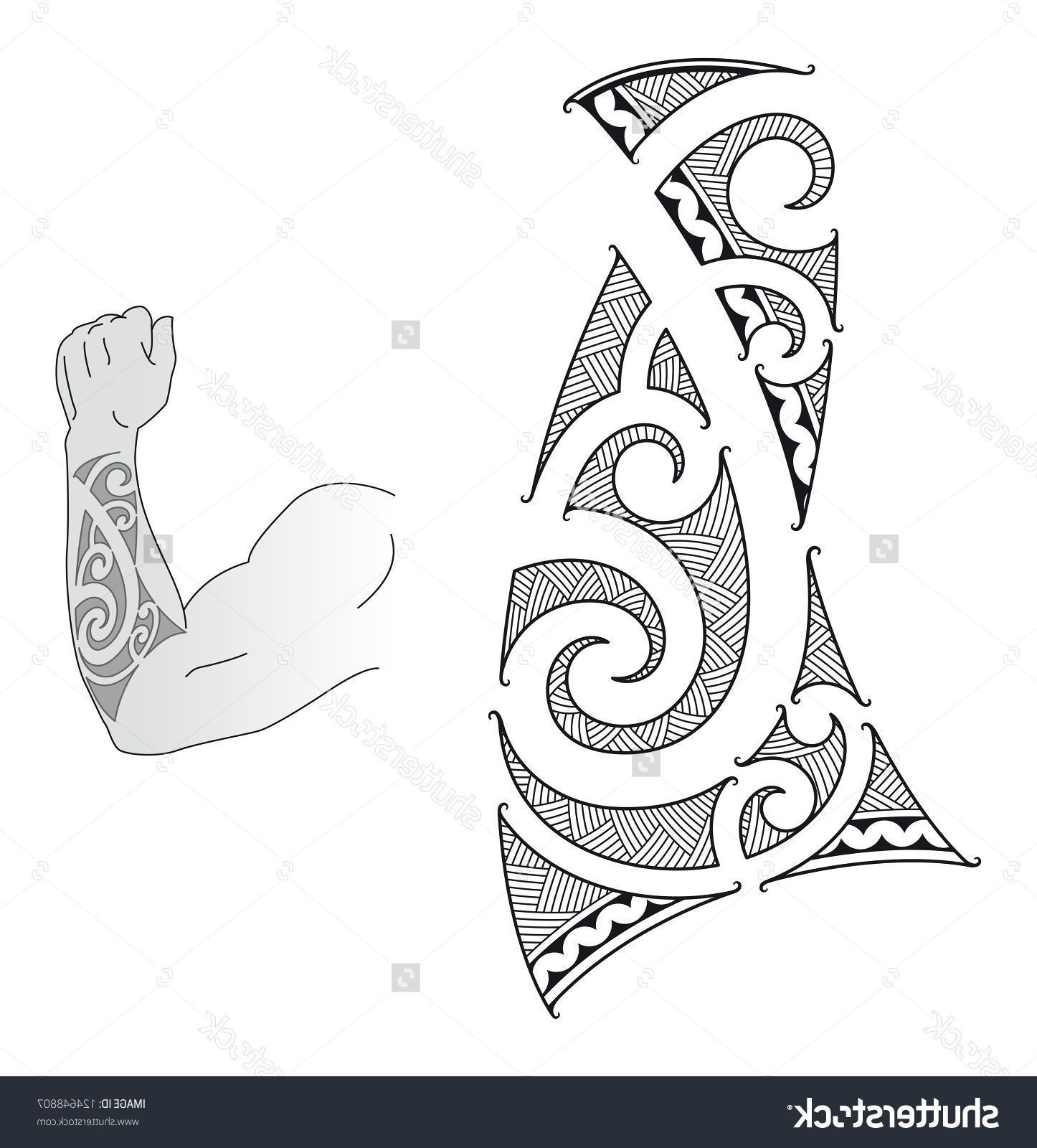 Polynesian Forearm Tattoo Designs Maori Style Tattoo Design Fit