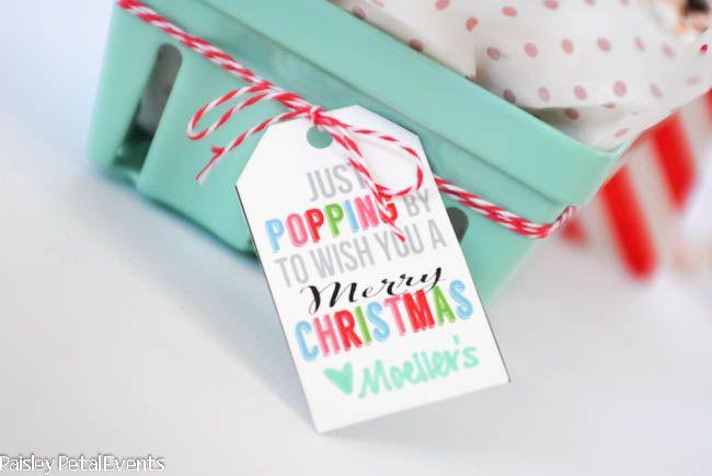 christmas popcorn tags