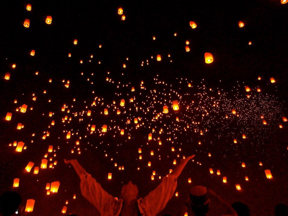 Yi Peng Lantern Festival, Thailand.