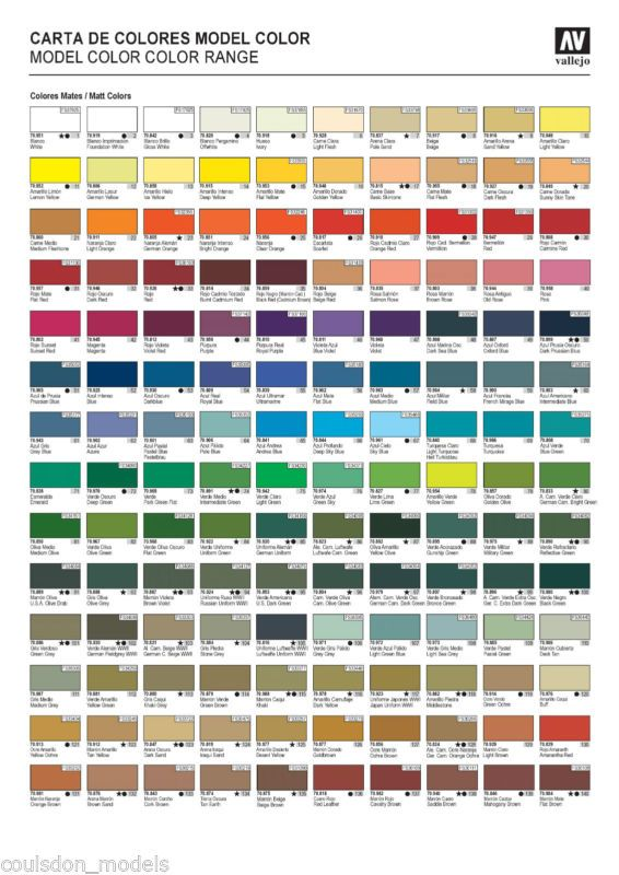 8 x Vallejo Model Color Acrylic Paints - Choose Any 8 From ...