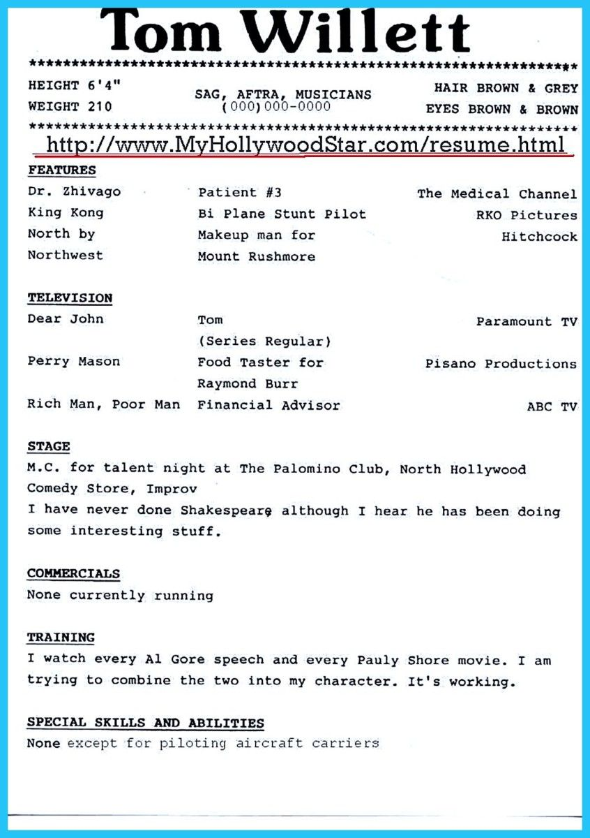 Awesome Brilliant Acting Resume Template To Get Inspired Check More At Http Snefci Org Brilliant Acting Resume Template Get Inspired Proposal Surat Tulisan