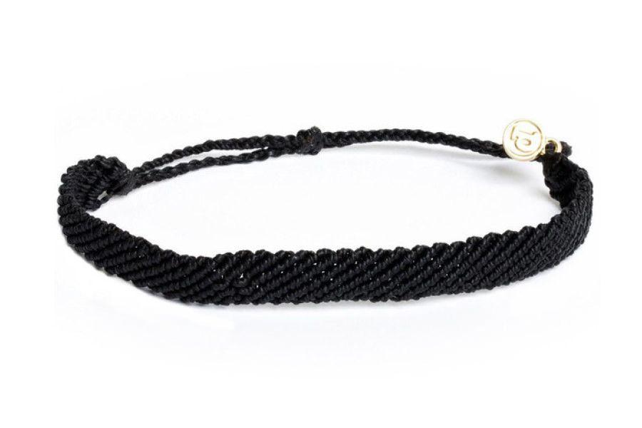 Flat Braided - Flat Braided Black Pura Vida $20