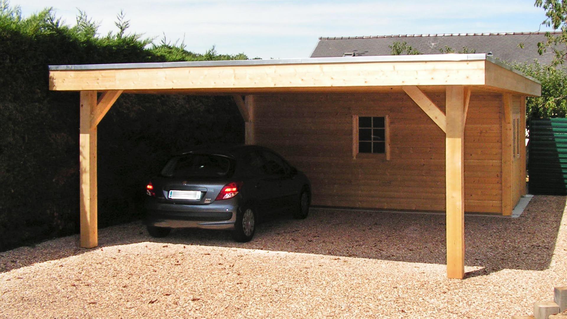 carport bois neuville moduland carports et abris. Black Bedroom Furniture Sets. Home Design Ideas