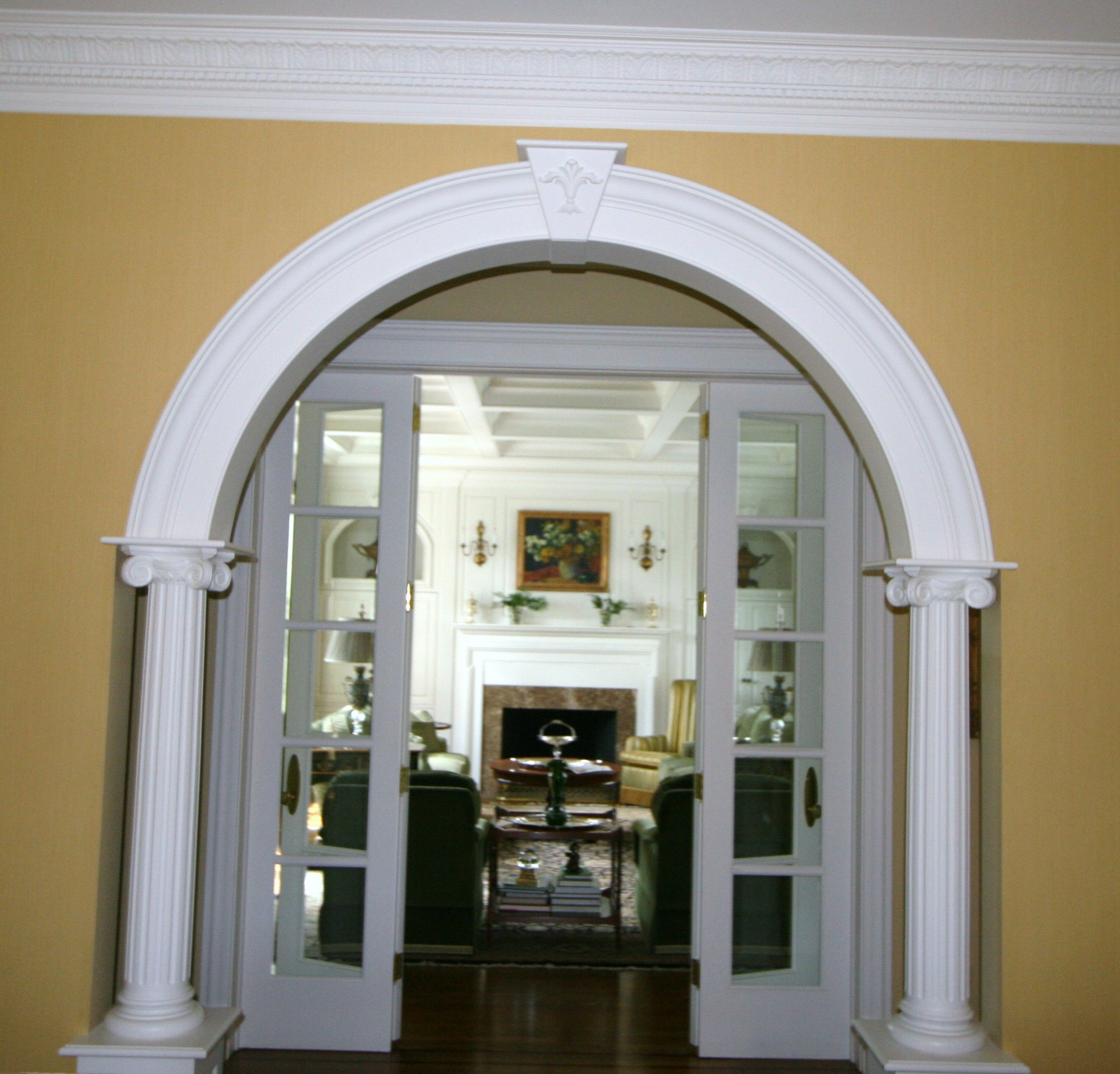 Arched Entry Into Living Room
