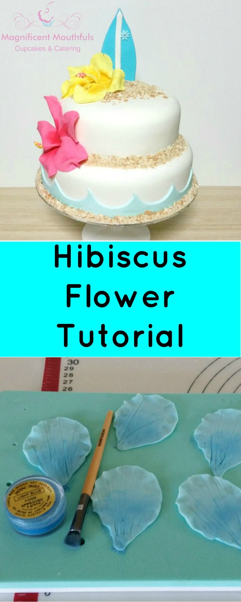 Fondant Hibiscus Flower Tutorial Learn How To Make These Beautiful