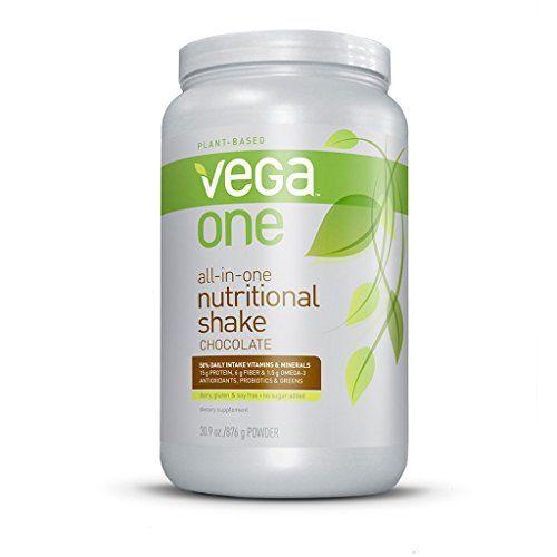 Vega One All-in-One Nutritional Shake, Chocolate, Large Tub - http://bestchocolateshop.com/vega-one-all-in-one-nutritional-shake-chocolate-large-tub/