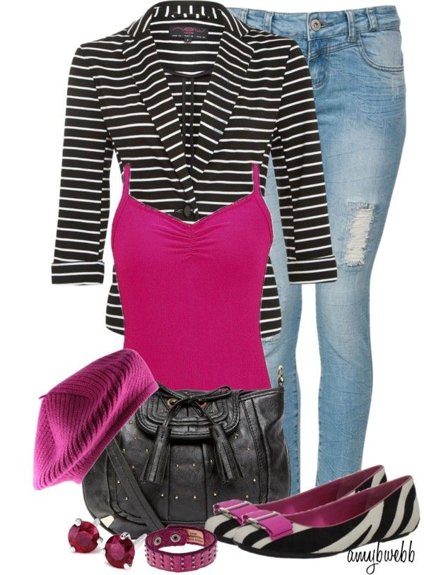 """""""She Wore A Raspberry Beret"""" by amybwebb ❤ liked on Polyvore"""