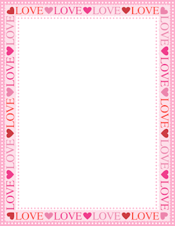 Page 15 Valentines Printables Free Borders For Paper Page Borders