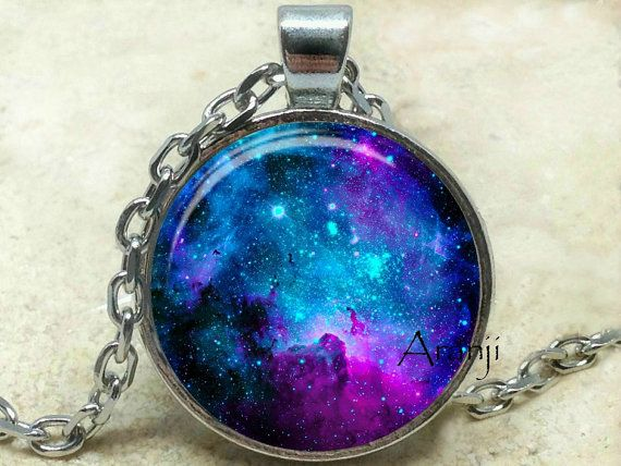 Purple nebula art pendant galaxy necklace nebula jewelry galaxy purple nebula art pendant galaxy necklace space jewelry by aranji mozeypictures Choice Image