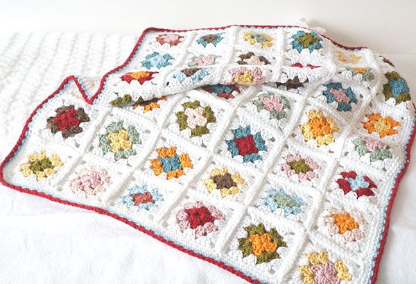 Granny Square Baby Blanket Crochet Pattern By Little Doolally Baby