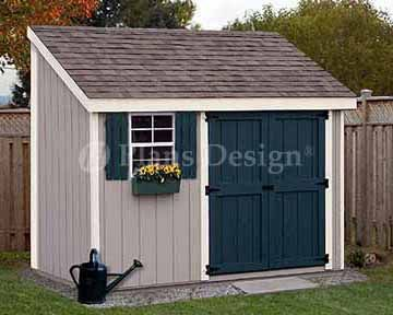 how to build a shed off side of house
