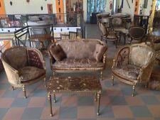 Sedie Barocche ~ Salotto barocco legno dorato velluto damascato divano poltrone
