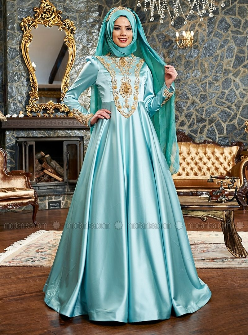 Aysima Evening - Mint - Muslim Evening Dresses - Modanisa | abaya ...