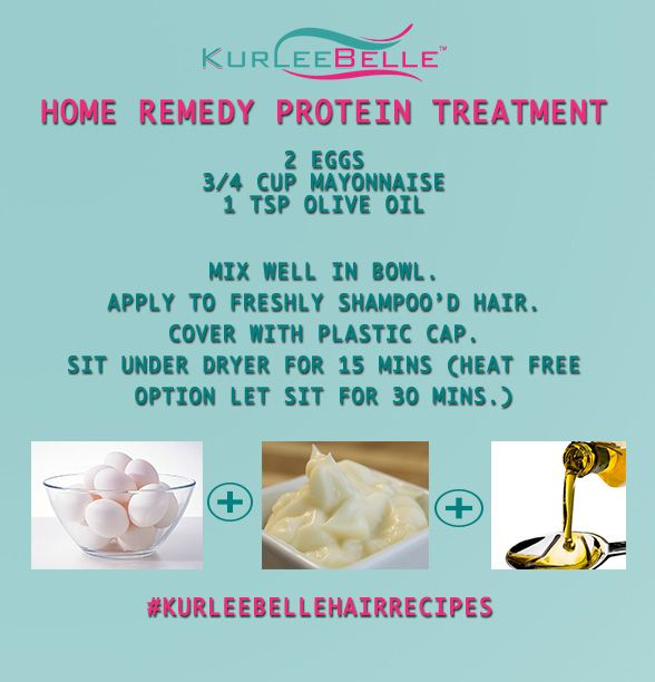 Diy Hair Treatment For Loss: Kurlee Belle: Home Remedy: Protein Treatment