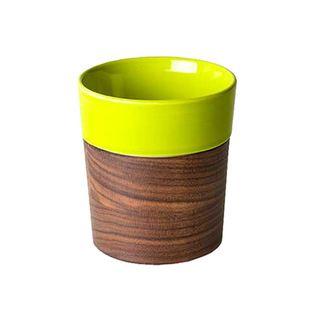 Else Wood and Ceramic Tumbler in Green