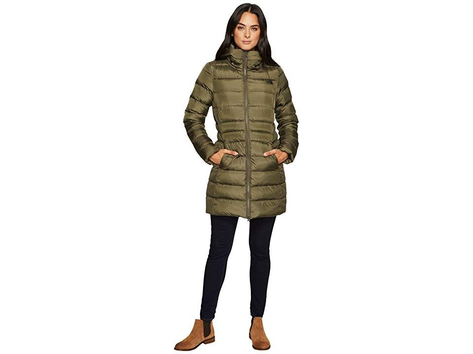 8571e45eb The North Face Gotham Parka II (New Taupe Green) Women's Coat. A mid ...