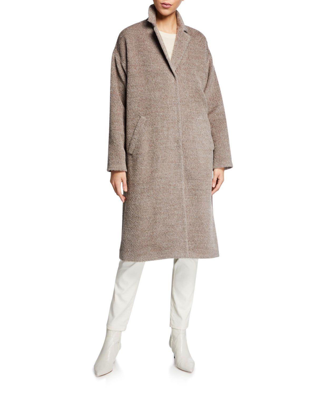 Petite Sheared Suri Alpaca Notch Collar Coat Collared Coat Eileen Fisher Suri Alpaca [ 1500 x 1200 Pixel ]