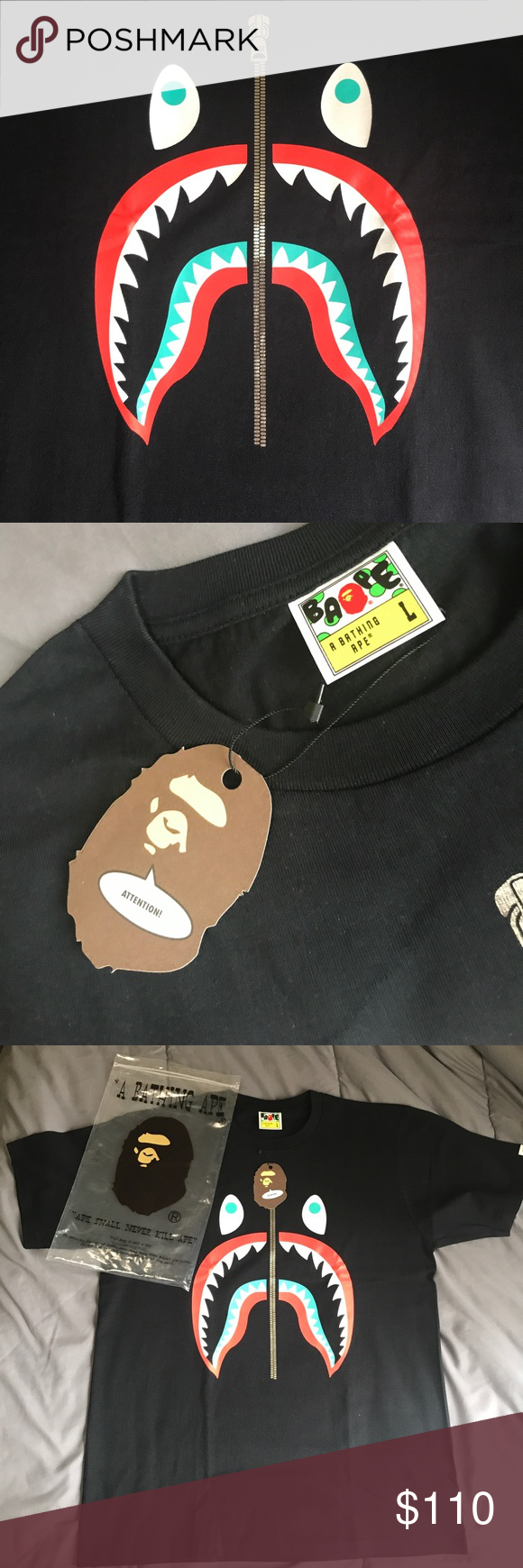 Bape Shark Zipper Shirt Zipper Shirt Bape Shirt Free Clothes
