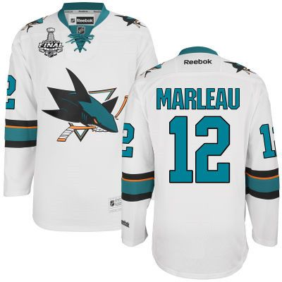88ff06373 ... best price san jose sharks melker karlsson white 2016 stanley cup away  nhl finals patch jersey
