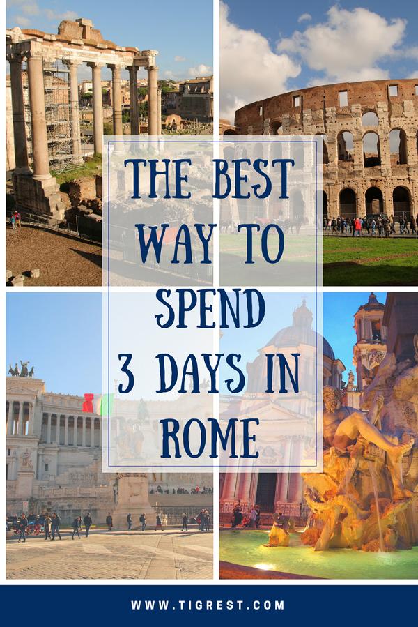 3 Days Rome Itinerary Quick Self Guided Tour Of The Eternal City Mit Bildern Reiseziele Reise Inspiration Reisen