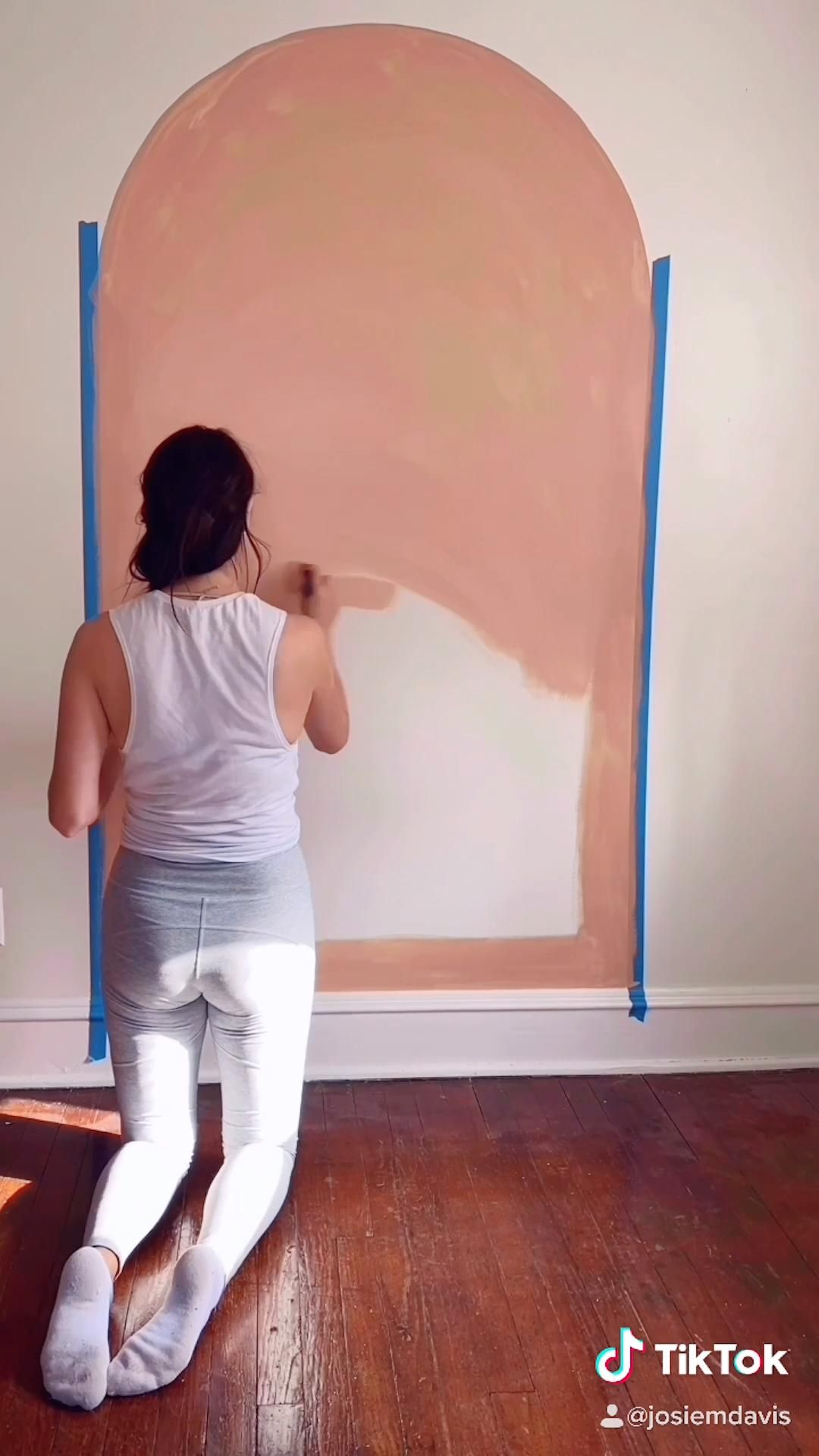 DIY Color Block Painted Arch Accent Wall Tutorial