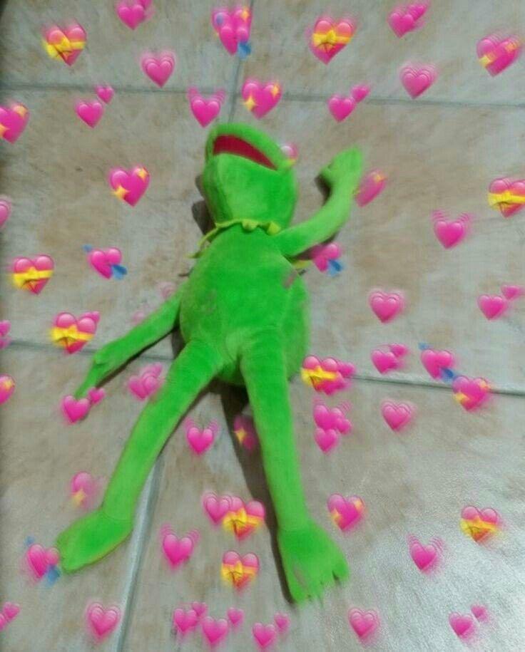 Kermit Love Hearts : kermit, hearts, Kermit, Heart, Memes