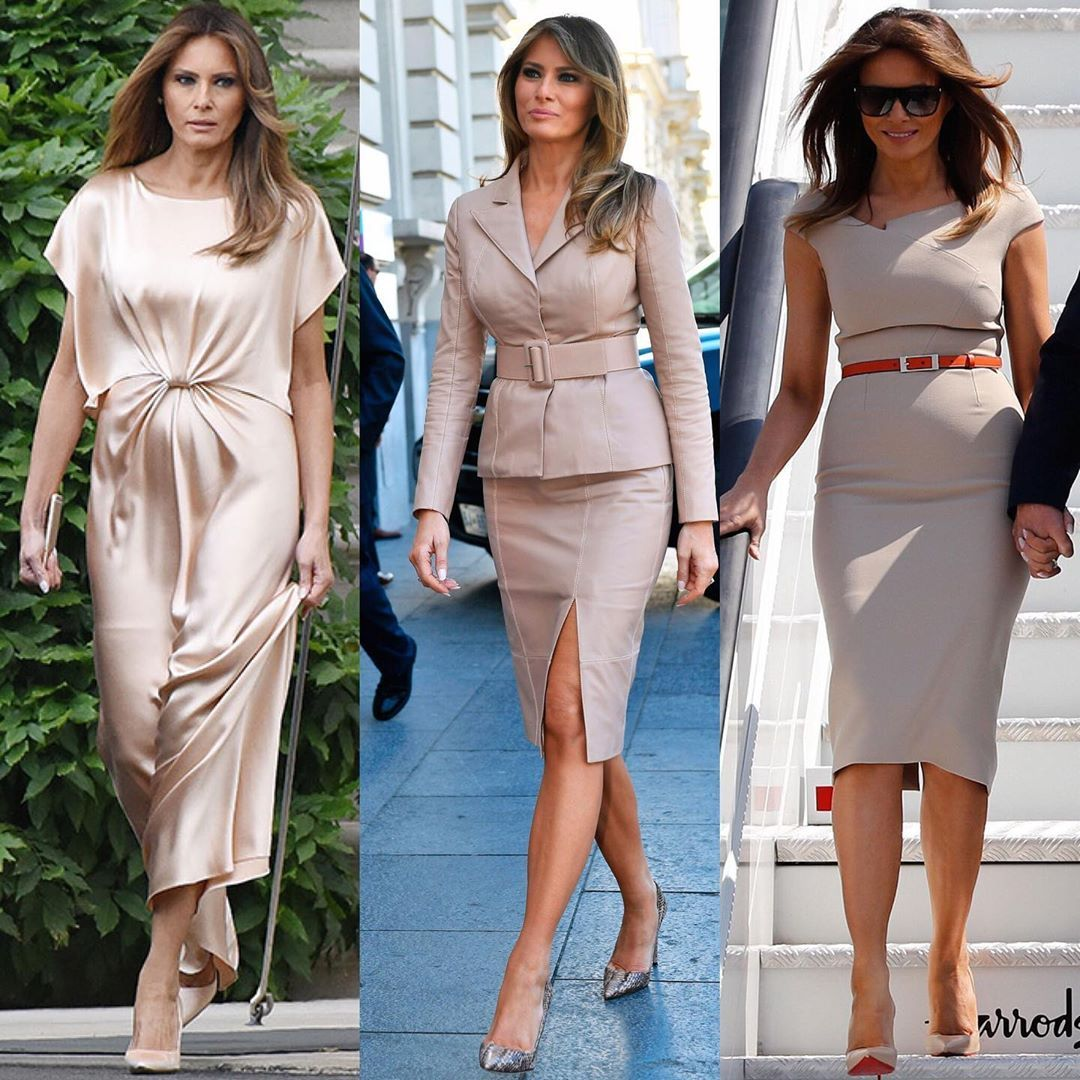 Melania Trump Ines Knauss On Instagram Melania Trump Wearing Different Colors Since She Became The First Lady F Fashion Week Mori Fashion Fashion Design