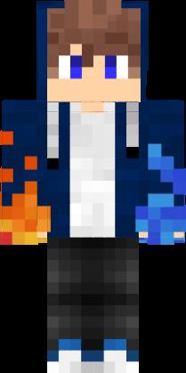 Fire Water Boy Nova Skin Minecraft Skins Cool Skin Nova Minecraft