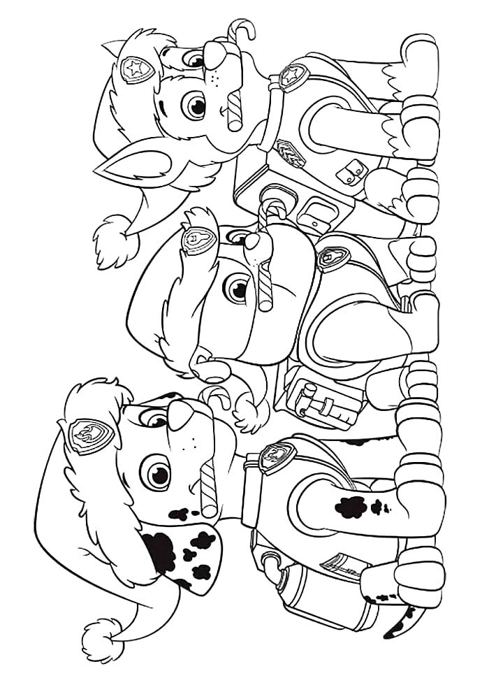 coloring pages for paw patrol