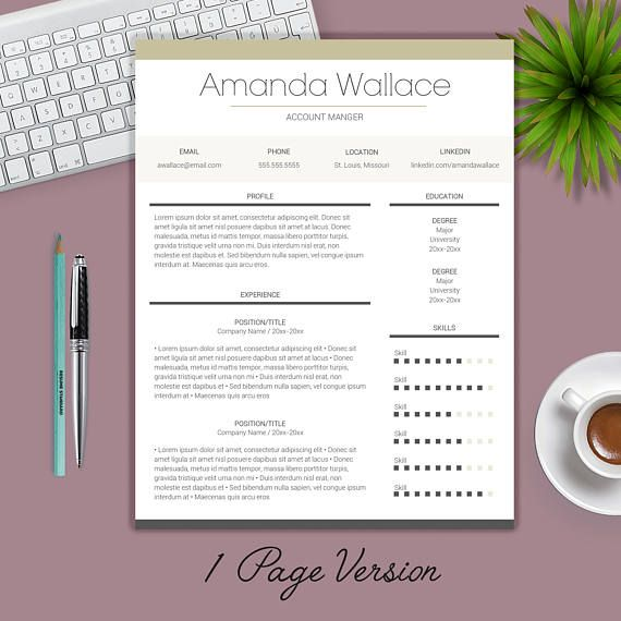 Resume Template   CV Template Cover Letter Professional Job - resume format on microsoft word 2007